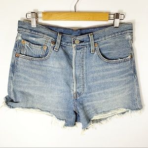 Levi's 501 Button Fly Distressed Shorts, Size 30